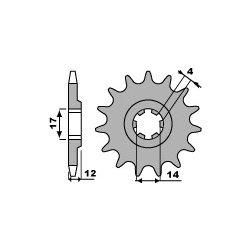 Pignon de sortie de boite PBR type 2223 / 13-14 Dents - Pas 428