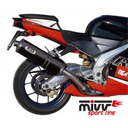 Silencieux MIVV OVAL APRILIA RSV1000 98-03 (Carbone)