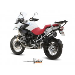 Silencieux MIVV SPEED EDGE BMW R1200 GS 10-12 (Steel Black)