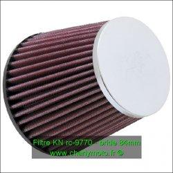 Filtre à air KN - bride 84mm