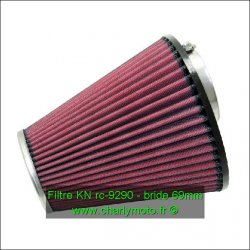 Filtre à air KN - bride 69mm