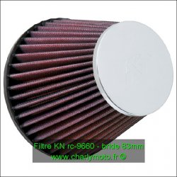 Filtre à air KN - bride 83mm