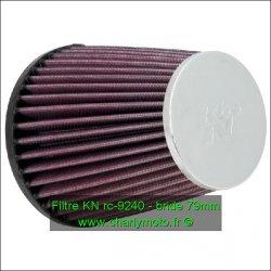Filtre à air KN - bride 79mm