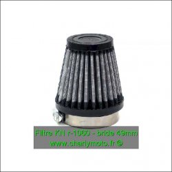 Filtre à air KN - bride 49mm