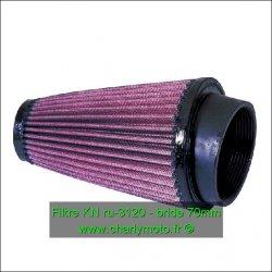 Filtre à air KN - bride 70mm