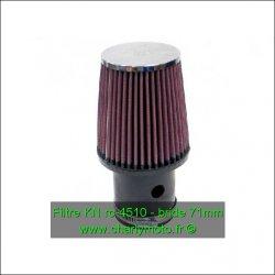 Filtre à air KN - bride 71mm