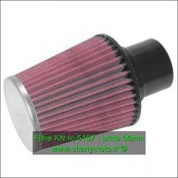 Filtre à air KN - bride 58mm