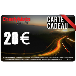 Carte cadeau CHARLYMOTO Racing - 20€ - 50€ - 100€ - 200€