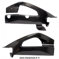 Protections de bras oscillant Carbone SUZUKI GSX-R 1000 17-18 (avec protection de chaine)