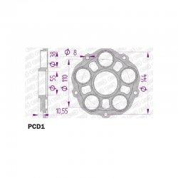 * Porte couronne AFAM Alu PCD1 - DUCATI 748 / 916 / 996 - 5 fixations - Type 51607 / 51608