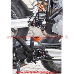 Commandes reculées LSL MULTIPOSITION KTM 990 SUPER DUKE 05-