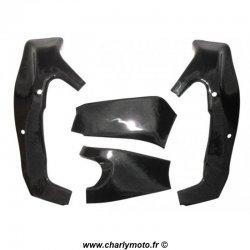 Pack protections de cadre et bras oscillant Carbone KAWASAKI ZX-6R 09-13 / ZX-6R 636 13-18