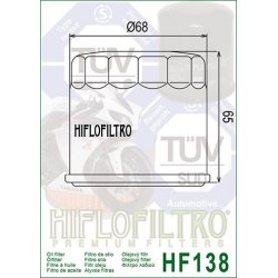 Filtre à huile HIFLOFILTRO HF138 APRILIA RSV4 / SUZUKI GSF BANDIT - SV - GSR - GSX-R - GSX-S - DL-VSTROM - TLS - VL - VZ