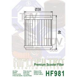 Filtre à huile HIFLOFILTRO HF981 MBK / YAMAHA