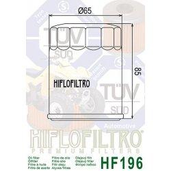 Filtre à huile HIFLOFILTRO HF196 POLARIS SPORTSMAN 600 03-04 / SPORTSMAN 700 02-04