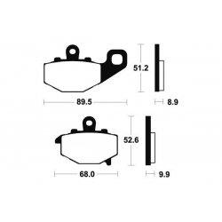 Plaquettes de frein Bendix MR187 Métal Fritté