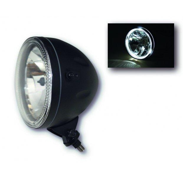 Optique avant Bihr contour LED - 146mm (Noir ou Chromé) (Fixation basse ou latérales)