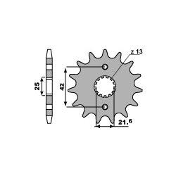 Pignon de sortie de boite PBR type 513 / 14-18 Dents - Pas 530