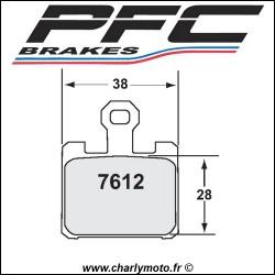 Plaquettes de frein PFC Carbone 7612 - TYPE 13 - COMPETITION