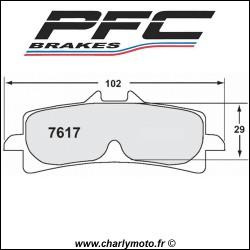 Plaquettes de frein PFC Carbone 7617 - TYPE 13 - COMPETITION