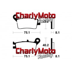 Plaquettes de frein Bendix MO129 Metal Fritte