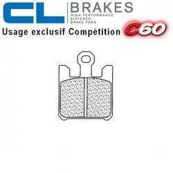 Plaquettes de frein CL BRAKES 1110C60 SUZUKI GSX-R 1000 2003 (Avant)