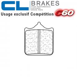 Plaquettes de frein CL BRAKES 1033C60 APRILIA RSV1000 02-03 / RSV1000 R 01-08 / RSV1000 R FACTORY 04-08 (Avant)