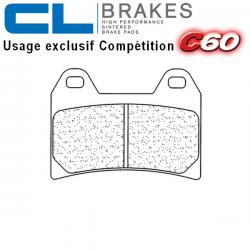 Plaquettes de frein CL BRAKES 2539C60 DUCATI HYPERMOTARD 1100 EVO 10-12 / MONSTER 1100 - S - EVO 09-12 (Avant)