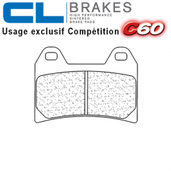 Plaquettes de frein CL BRAKES 2539C60 DUCATI HYPERMOTARD 796 10-12 / MONSTER 796 11-12 (Avant)