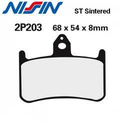 Plaquettes de frein NISSIN 2P203ST HONDA VTR 1000 F FIRESTORM 97-06 (Avant)