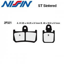 Plaquettes de frein NISSIN 2P321ST YAMAHA MT-01 07-12 (Avant)