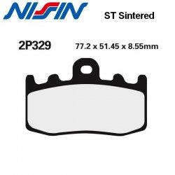 Plaquettes de frein NISSIN 2P329ST BMW K1200 GT Integral ABS 02-08 / K1200 RS 01-06 / K1200 S 04-08 (Avant)
