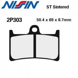 Plaquettes de frein NISSIN 2P303ST YAMAHA FZ6 FAZER S2 07-10 (Avant)