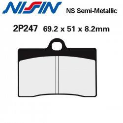 Plaquettes de frein NISSIN 2P247NS DUCATI MONSTER 750 96-99 (Avant)