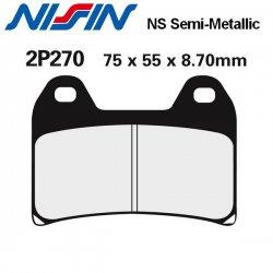 Plaquettes de frein NISSIN 2P270NS DUCATI HYPERMOTARD 1100 EVO 10-12 / MONSTER 1100 - S - EVO 09-12 (Avant)