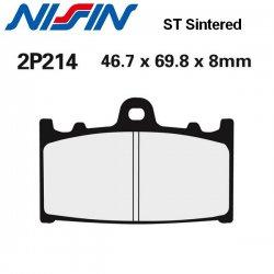 Plaquettes de frein NISSIN 2P214ST KAWASAKI ZXR750 R 89-95 (Avant)