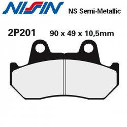 Plaquettes de frein NISSIN 2P201NS HONDA VT750 C - SHADOW 86-96 (Avant)
