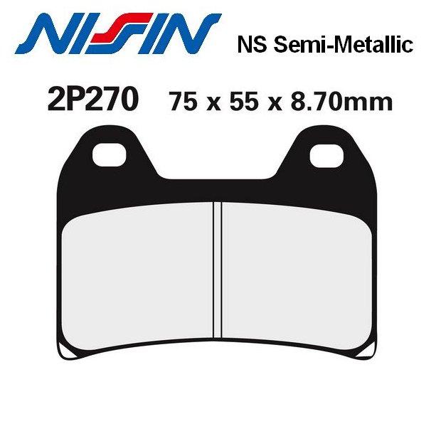Plaquettes de frein NISSIN 2P270NS DUCATI 848 08-12 (NON EVO) (Avant)