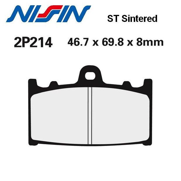 Plaquettes de frein NISSIN 2P214ST SUZUKI GSX-R 600 97-03 (Avant)