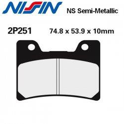 Plaquettes de frein NISSIN 2P251NS YAMAHA V-MAX 1200 93-06 (Avant)