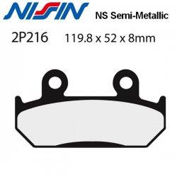 Plaquettes de frein NISSIN 2P216NS HONDA NTV 600 REVERE 88-90 (Avant)