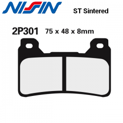 Plaquettes de frein NISSIN 2P301ST HONDA CBR1000RR 04-08 / CBR1000RR 09-16 (ABS) (Avant)
