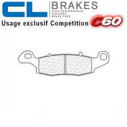 Plaquettes de frein CL BRAKES 2384C60 SUZUKI SV 650 16-19 (Avant droit)