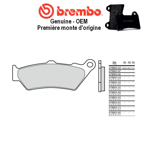 Plaquettes de frein BREMBO Genuine OEM 07BB0390 BMW R1200 R 15-17 (Arrière)
