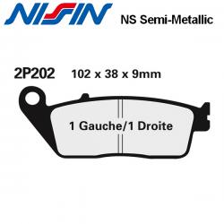 Plaquettes de frein NISSIN 2P202NS HONDA NTV 650 REVERE 88-97 (Avant)