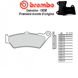 Plaquettes de frein BREMBO Genuine OEM 07BB0390 HONDA NTV 650 DEAUVILLE 98-01 (Avant)