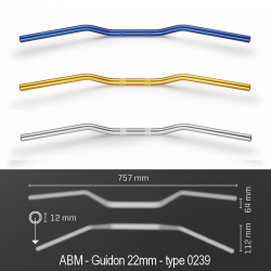 Guidon ABM STREETBIKE Alu - Type 0239 (22mm)