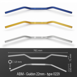 Guidon ABM SUPERBIKE Alu - Type 0229 (22mm)