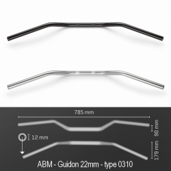 Guidon ABM TOURING - Type 0310 (22mm)