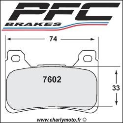 Plaquettes de frein PFC Carbone 7602 - TYPE 13 - COMPETITION